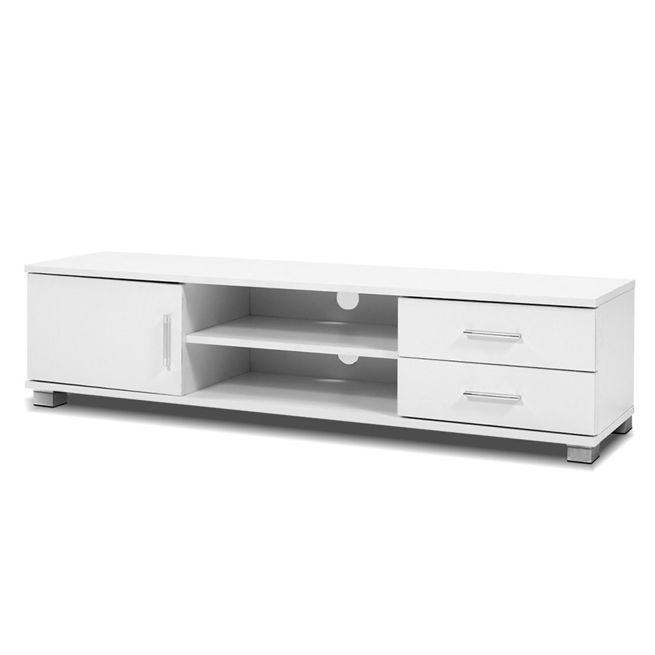 Artiss 120cm TV Stand Entertainment Unit Cabinet Drawers Shelf White