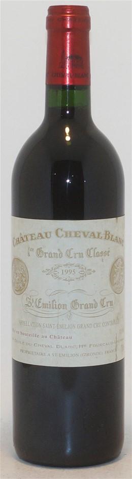 Chateau Cheval Grand Cru Blanc 1995 (1x 750ml),Saint Emilion. Cork closure.