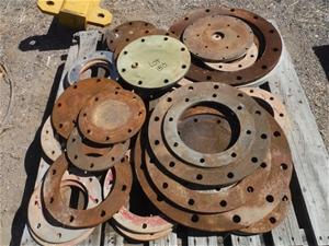 Pallet of Various Steel Flanges & Blinds