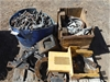 Pallet of Various Bolts, Clamps & Pump Mounts
