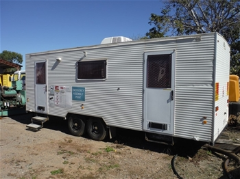 2011 Traymark Roadtek Tandem Caravan Site Office Trailer