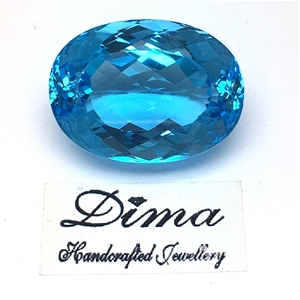 One Loose Blue Topaz, 62.15ct in Total