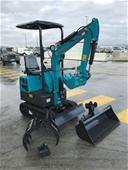 Unreserved Unused 2019 Mini Excavator with Attachments