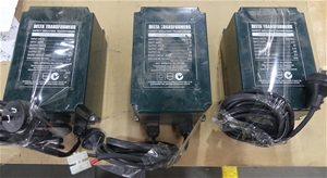 3 x Delta safety isolating transformers,