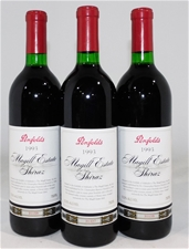 Penfolds `Magill` shiraz 1993 (3x 750ml), SA . cork closure.