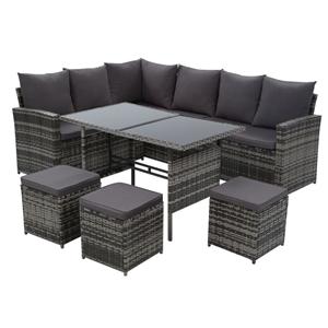 Gardeon Outdoor Furniture Sofa Set Dinin