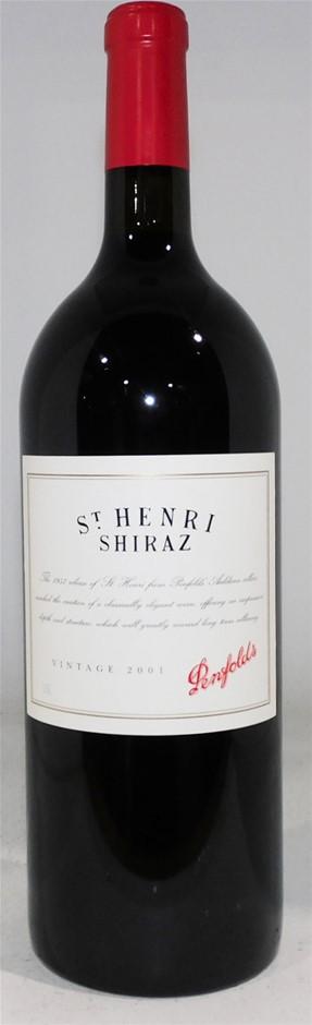 Penfolds `St Henri` Shiraz 2001 (1 x 1.5L Magnum), SA.