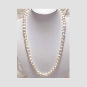 7-8mm White Akoya Cultured Pearl Necklac