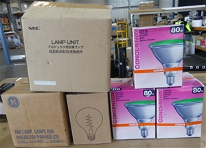 Box of Assorted Lighting Products