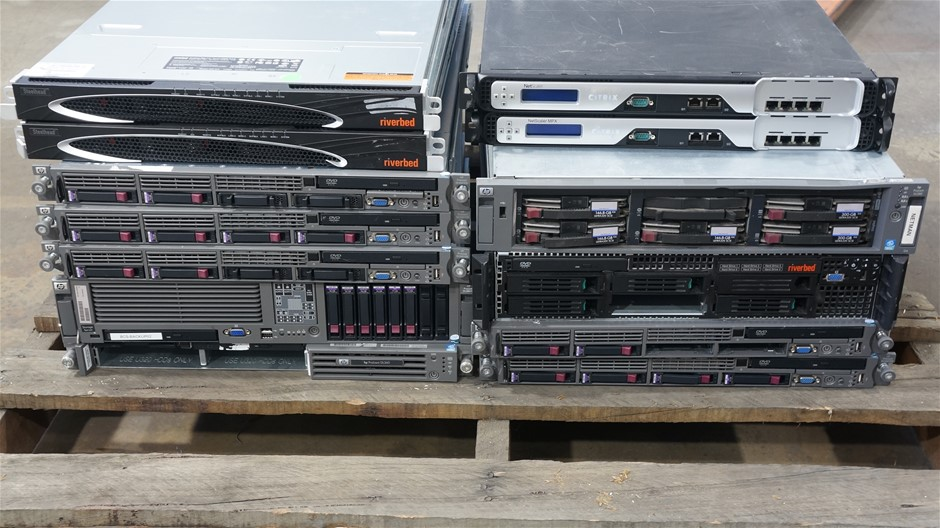 Pallet of Assorted Brand Servers and Networking Hardware