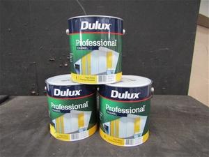 Qty 3 x Dulux 4L Professional High Gloss