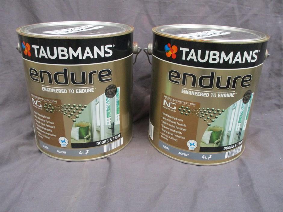 Qty 2 x Taubmans Endure 4 Litres Tin Paint