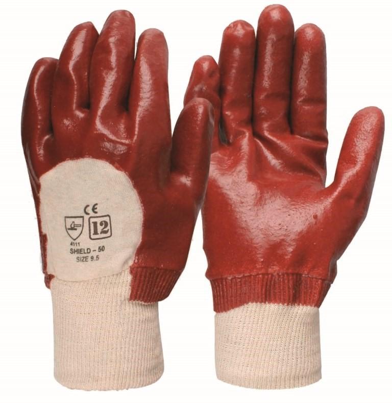 24 x Pairs General Purpose PVC Dipped Gloves Size L. (SN:BVR-K00693-K24) (2