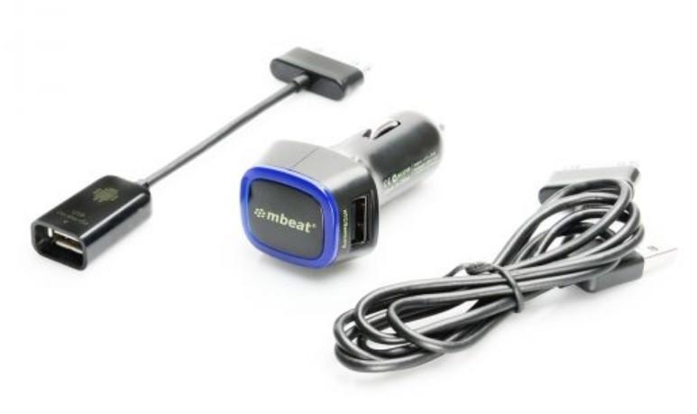 mbeat CAB-OTG30PINK Galaxy Tab & Note 3-in-1 OTG Kit Black - 30 Pin type