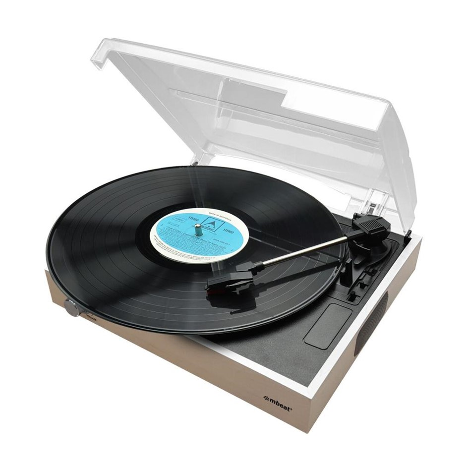 mbeat MB-USBTR68 Wooden Style USB Turntable Recorder