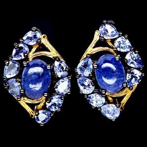Genuine Tanzanite Stud Earrings