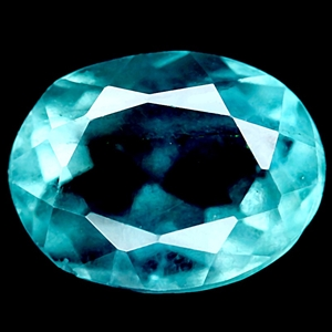 5.64ct. Oval Facet Natural Bluish Green