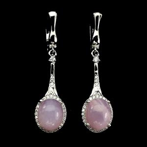 Gorgeous Genuine Pink Opal Drop Earrings