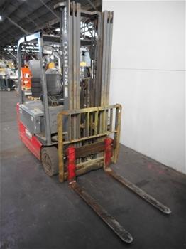 2012 Nichiyu Sicos Ac FBT18PN 75B 500MFCSSF 1.8 Ton Electric 3 Wheeled Counter Balance Forklift