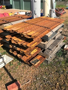 Pallet of approx 25 used steel grader bl