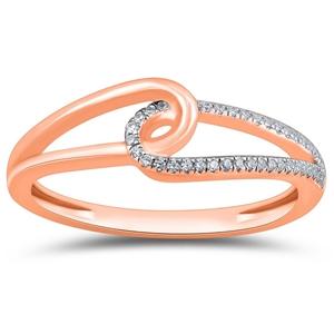 9ct Rose Gold, 0.06ct Diamond Ring