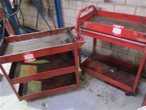 2 Assorted Parts Trolleys