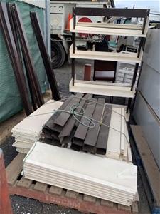 6 Complete Adjustable Shelving Units