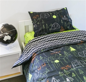 Camping Quilt Cover With Zigzag Double Size Auction 0088