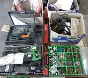 Pallet of Assorted Power Tools and Tool