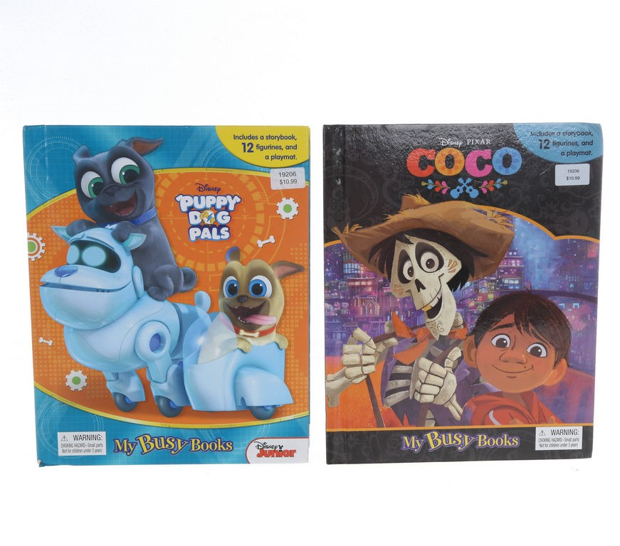 2 x MY BUSY BOOKS, COCO & PUPPY DOG PALS. N.B. May have some figurines miss