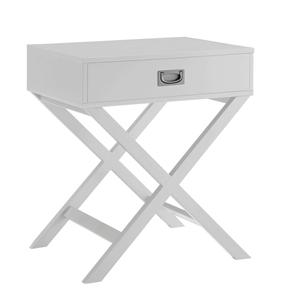 Alexa Cross Leg 1 Drawer Bedside Table -