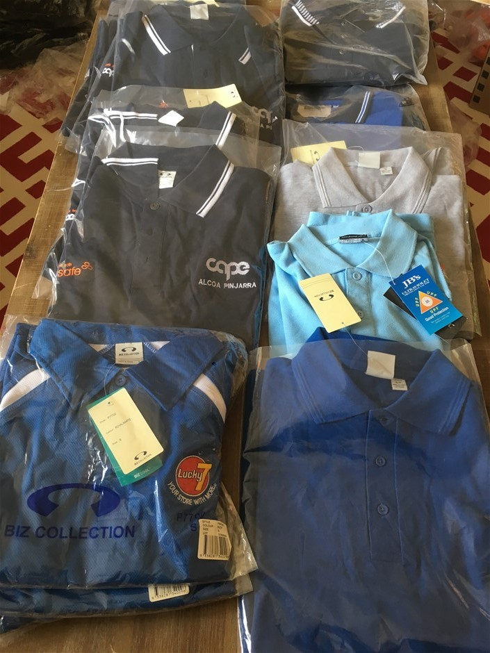 16 Assorted Polo Shirts, Mixed Sizes