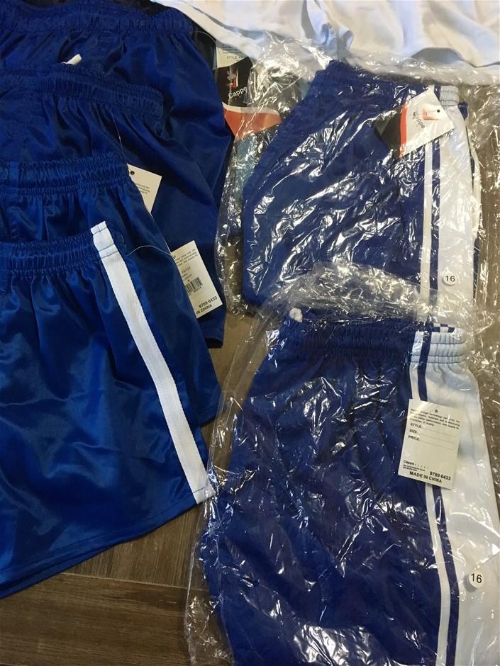 10 x Cappe Sport Shorts, Melbourne Storm, Mixed Sizes