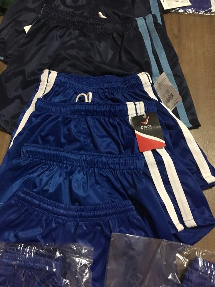 8 x Cappe Sports Shorts, Cowboy's, Colour Royal Blue, Size 14