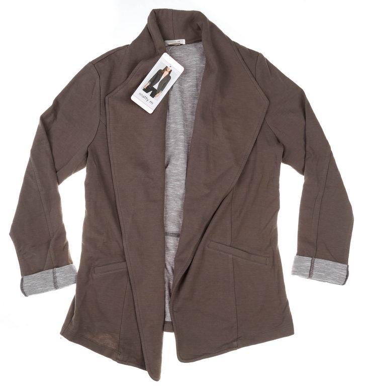 MATTY M Women`s Casual Blazer Jacket, Size L, 100% Cotton, Olive. Buyers No