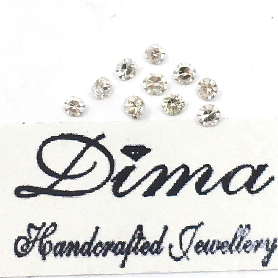 Ten Stones Diamond 0.38ct in Total