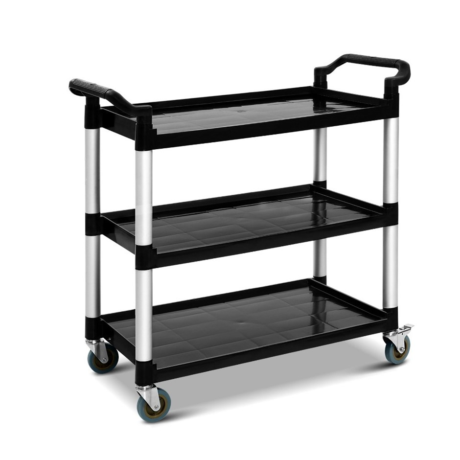 Emajin Service Cart Trolley Restaurant Kitchen Serving Catering Large Shelf
