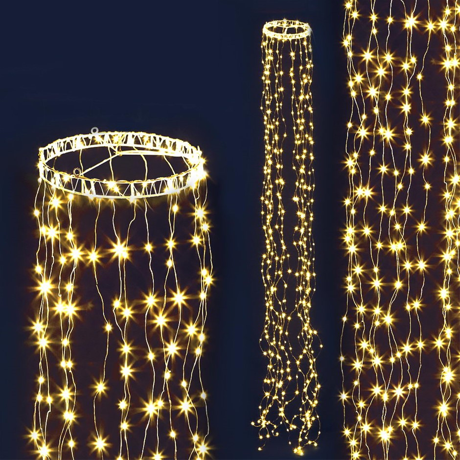 Jingle Jollys 3M Christmas Curtain Fairy Lights String 480 LED Party