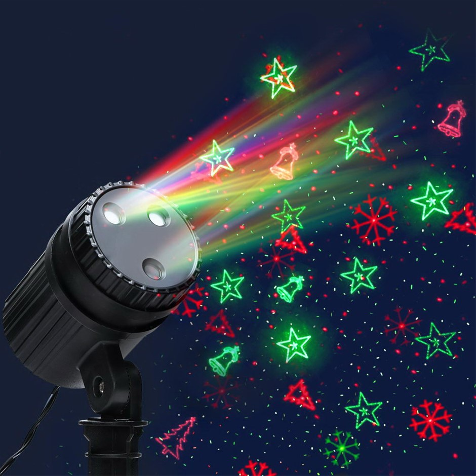 Jingle Jollys Moving LED Lights Laser Projector Landscape Christmas Decor