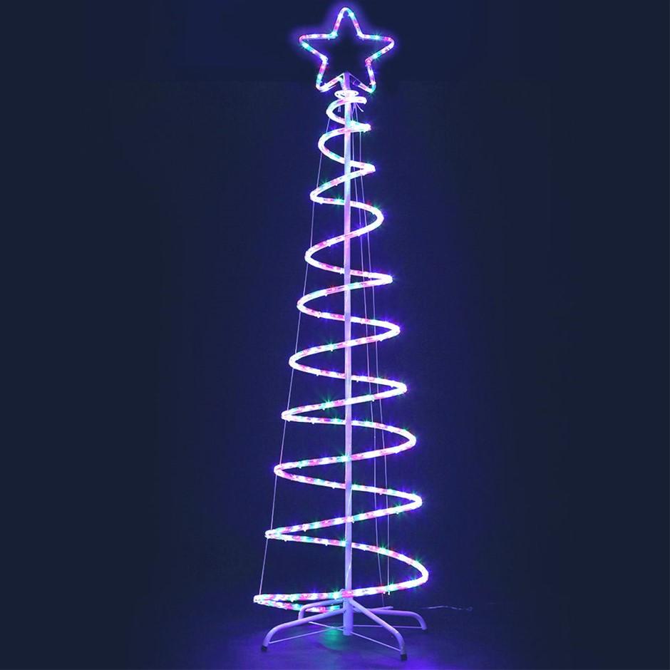 Jingle Jollys Christmas LED Motif Light 1.M Tree Waterproof Colourful