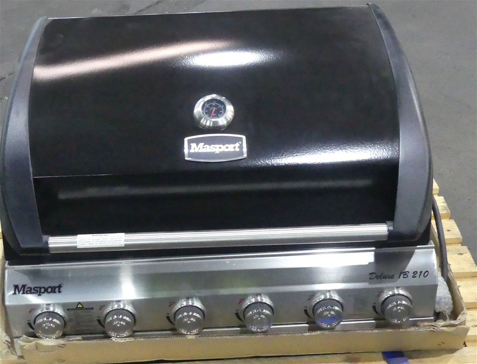 Masport 552721 Deluxe Inbuilt 210 6 Burner Gas BBQ