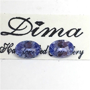 Two Stones Tanzanite 1.84ct in Total