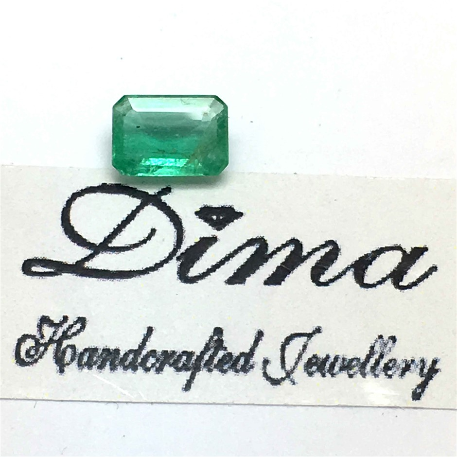 One Stone Emerald 0.75ct in Total