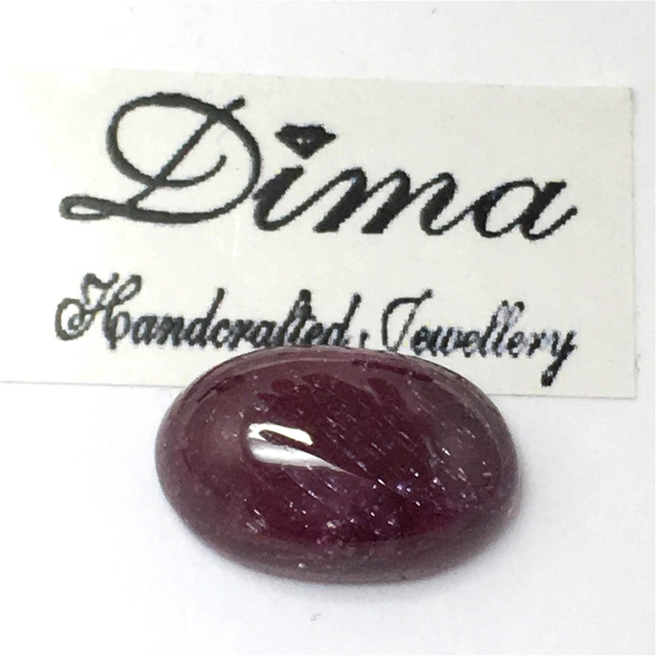 One Stone Ruby Cabochon 12.18ct in Total