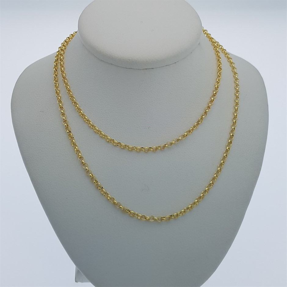 9ct Yellow Gold, 2.05g Italian Solid Chain Necklace
