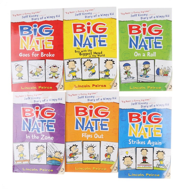 BIG NATE Big Size-Book Set by Lincoln Peirce. N.B. Not in original packagin