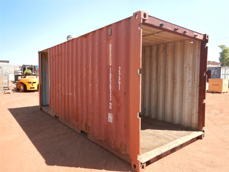Container, Side Access, Open End, 20 Foot, Standard (B-Type)