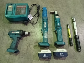 Qty 5 x Makita Assorted Torque Wrenches & Screw Gun