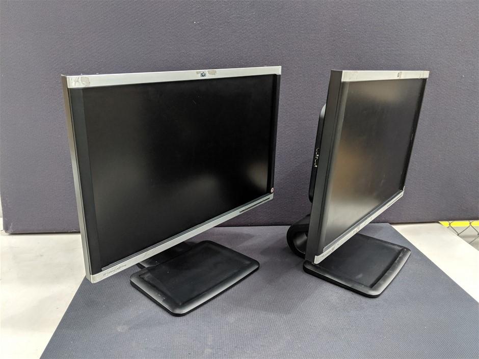 Qty 2 x HP Compaq LA2205wg 22 Inch LCD Monitor