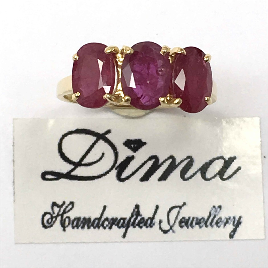 18ct Yellow Gold, 3.06ct Ruby Ring